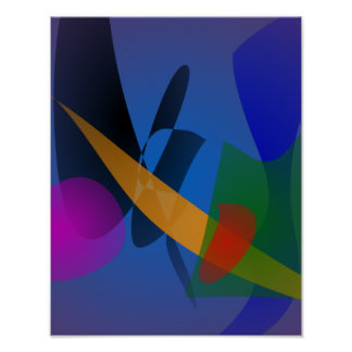 Arte abstracta da emoção poster