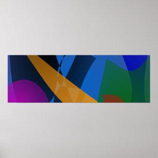 Arte abstracta da emoção impressão