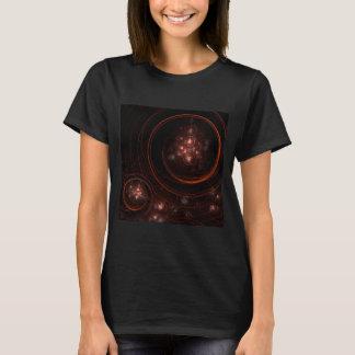 Arte abstracta da luz das estrelas camisetas