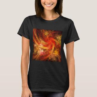 Arte abstracta da nova do incêndio t-shirt