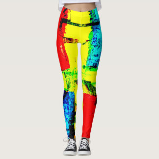 Arte abstracta da rua leggings