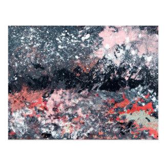 Arte abstracta - dança festiva cartão postal