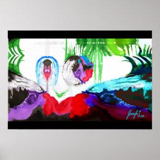 Arte abstracta de Brea Poster