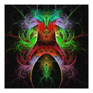 Arte abstracta de Carnaval Convite Quadrado 13.35 X 13.35cm