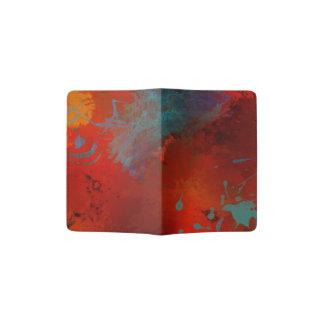 Arte abstracta de Digitas do Grunge do vermelho, Capa Para Passaporte