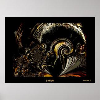 Arte abstracta de Digitas do poster pródiga
