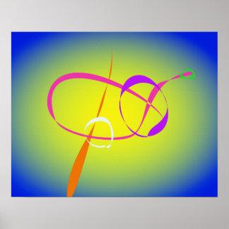 Arte abstracta do contraste e do Fuzziness Pôsteres