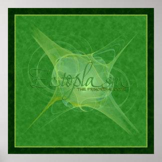 Arte abstracta do Ectoplasm Poster