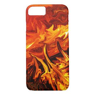 Arte abstracta do fogo de escova capa iPhone 8/7