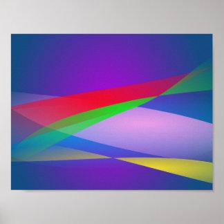Arte abstracta do minimalismo do verde azul posteres