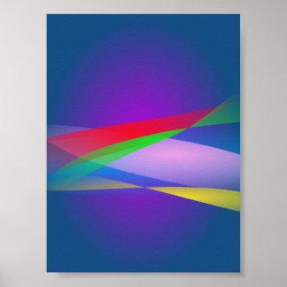 Arte abstracta do minimalismo do verde azul