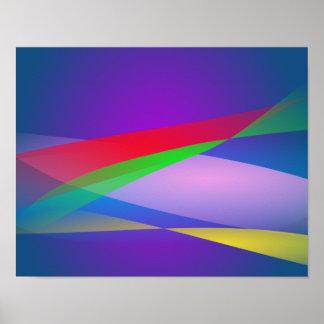Arte abstracta do minimalismo do verde azul pôsteres