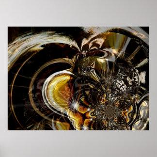 Arte abstracta do poster que detecta Ilusion