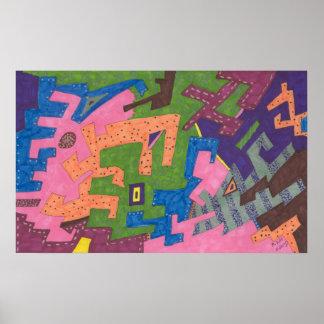 """Arte abstracta dos """"animais selvagens"""" poster"""