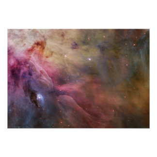 Arte abstracta encontrada na nebulosa de Orion Poster