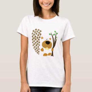 Arte abstracta engraçada do castor camiseta