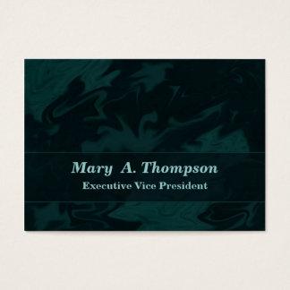 Arte abstracta escura da cerceta cartão de visitas