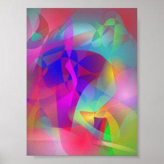 Arte abstracta espontânea poster