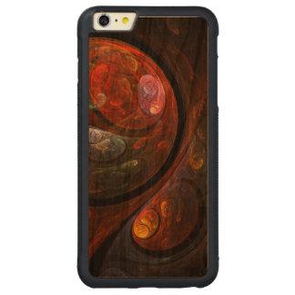 Arte abstracta fluida da conexão capa bumper para iPhone 6 plus de cerejeira, carve