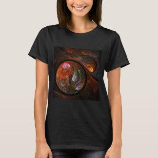 Arte abstracta fluida da conexão t-shirt