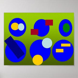 Arte abstracta - fusão do primavera poster