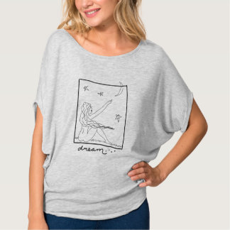 Arte abstracta ideal para vestir as mulheres camiseta
