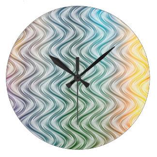 Arte abstracta legal na moda das cores relógio grande