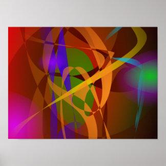 Arte abstracta luminosa de Brown Digital Posters