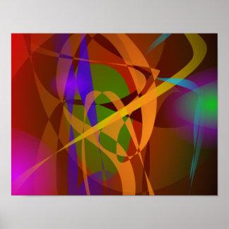 Arte abstracta luminosa de Brown Digital