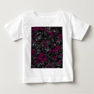 Arte abstracta magenta e cinzenta t-shirts