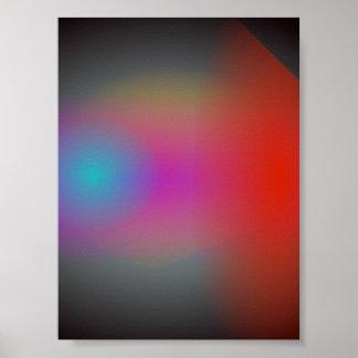 Arte abstracta obscura preta do Airbrush Poster