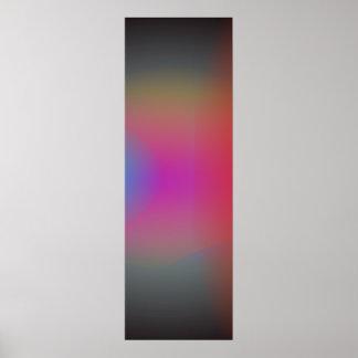 Arte abstracta obscura preta do Airbrush Posteres