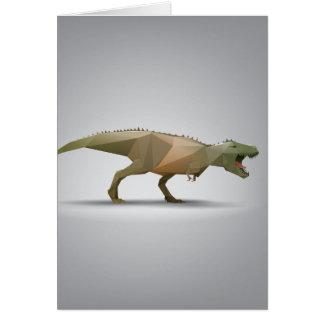 Arte abstracta poligonal de Rex do tiranossauro de Cartão
