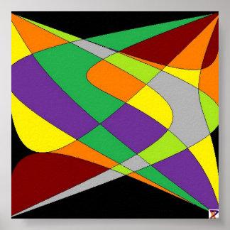 arte abstracta impressão