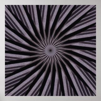 Arte abstracta preta branca e do cinza swirly do pôster