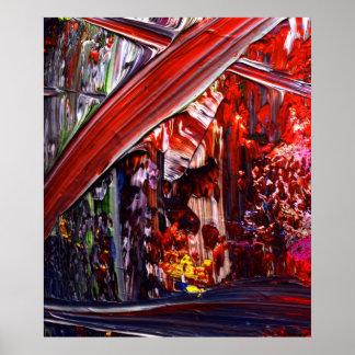 Arte abstracta que pinta 2 poster