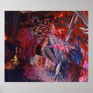 Arte abstracta que pinta 3 poster