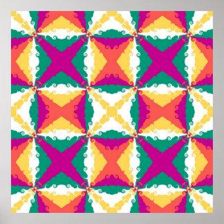 Arte abstracta retro do redemoinho colorido do art pôster