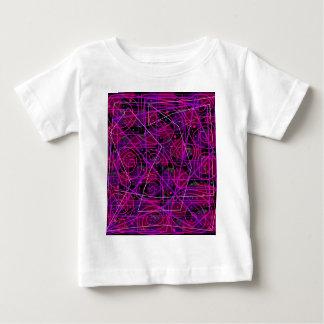 Arte abstracta roxa camiseta para bebê