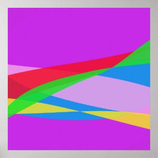 Arte abstracta roxa cor-de-rosa do minimalismo impressão