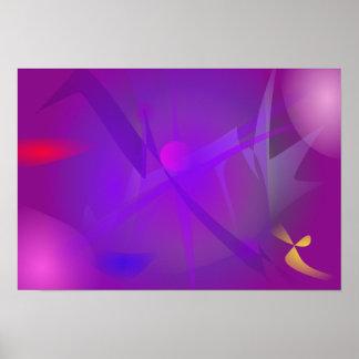Arte abstracta roxa de Digitas do buraco negro Posters