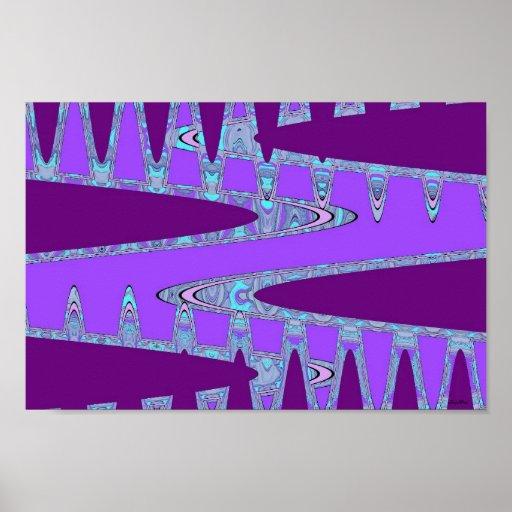 arte abstracta roxa impressão