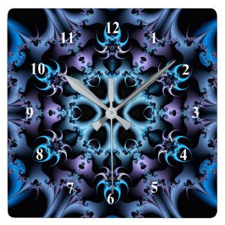 Arte abstracta, roxo do caleidoscópio do Fractal e Relógio Quadrado