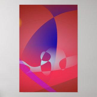 Arte abstracta simples 2 de Avermelhado-Brown Posters