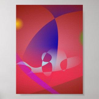 Arte abstracta simples 2 de Avermelhado-Brown