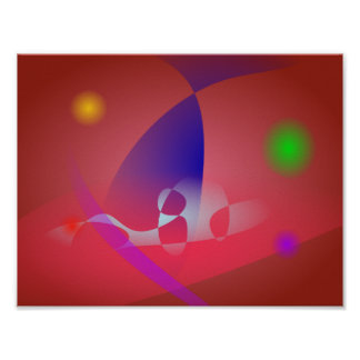 Arte abstracta simples 2 de Avermelhado-Brown Posteres