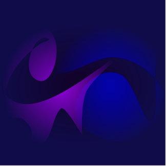 Arte abstracta simples da gradação do marinho