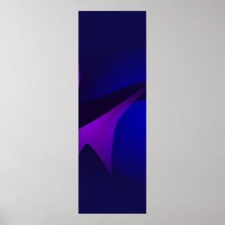 Arte abstracta simples da gradação do marinho impressão