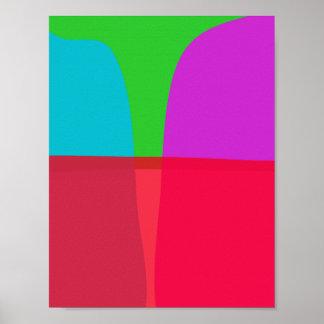 Arte abstracta simples das cores