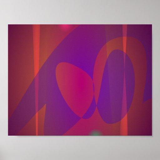 Arte abstracta simples de Avermelhado-Brown